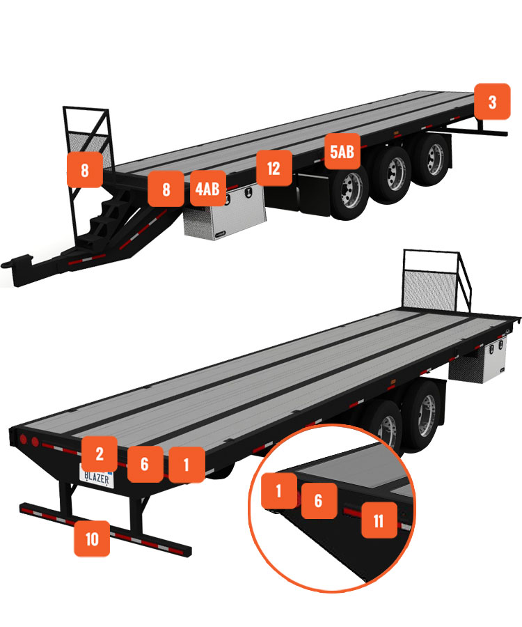 flatbed trailer select a light location blazer international rh blazer international com Flatbed Trailer Types Flatbed Trailer Loading Diagrams